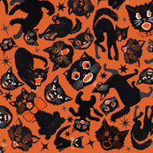 Halloween Cats  Orange