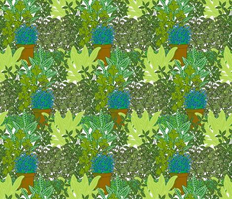 Herb Garden fabric by linsart on Spoonflower - custom fabric