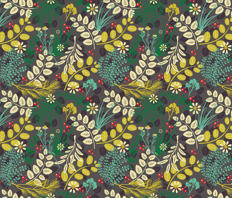 VeryCherry Herbs fabric by verycherry on Spoonflower - custom fabric