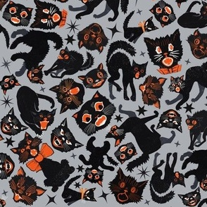 Halloween Cats Grey