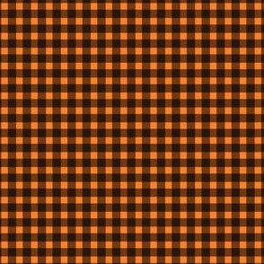 Black and orange fox gingham