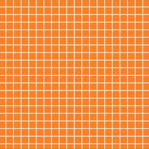 Orange and white grid