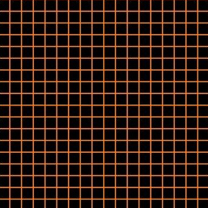 Orange fox grid on black
