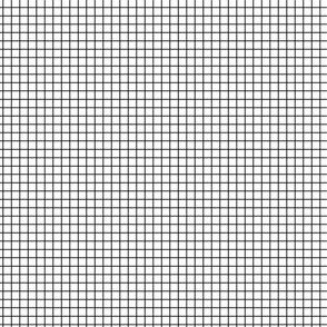 Black fox grid on white