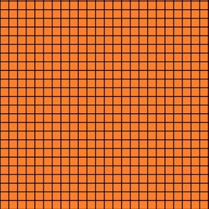 Orange with black fox grid