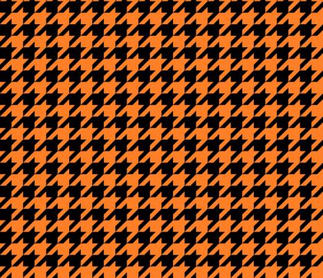 Black and orange fox houndstooth fabric by modernfox on Spoonflower - custom fabric