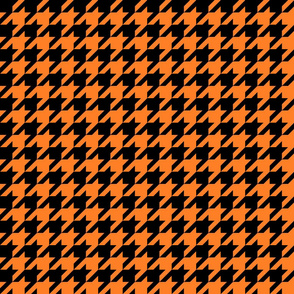 Black and orange fox houndstooth
