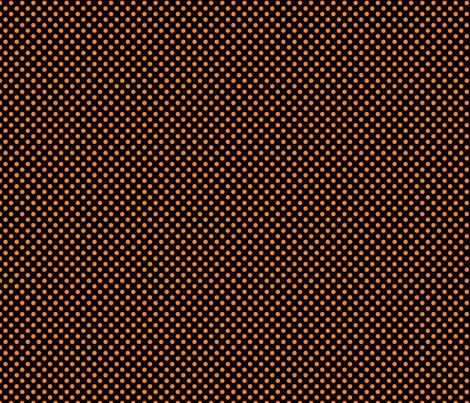 Black and orange fox polka dot fabric by modernfox on Spoonflower - custom fabric