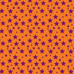 Purple star on Orange