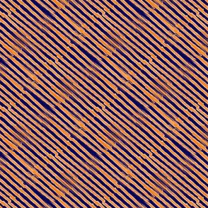 Navy and orange stripe