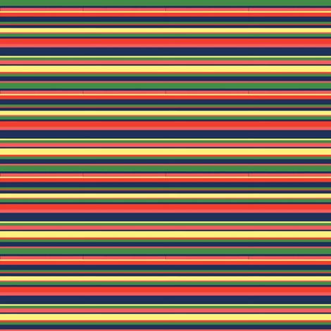 Hawaii flower stripe fabric by modernfox on Spoonflower - custom fabric