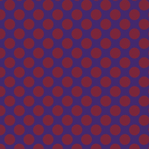 Purple and maroon polka dot