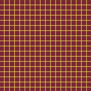 Maroon and yellow grid