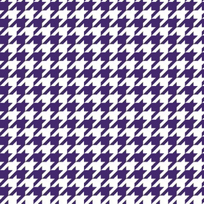 Purple and white houndstooth