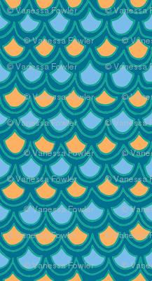 fun waves in blue