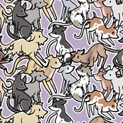 Many Hounds Collar Fabric