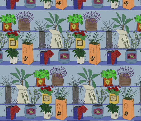 Vintage Herb Tins fabric by clemencyrose on Spoonflower - custom fabric