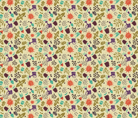 Sunshine, Herbs & Water fabric by alan_defibaugh on Spoonflower - custom fabric