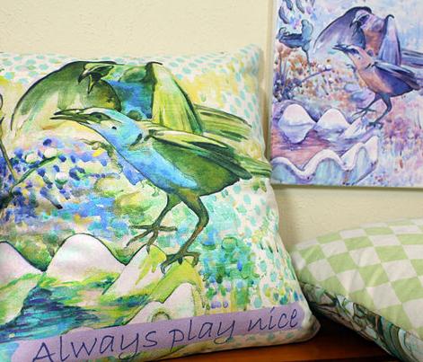 Set of 3 Bird pillow covers