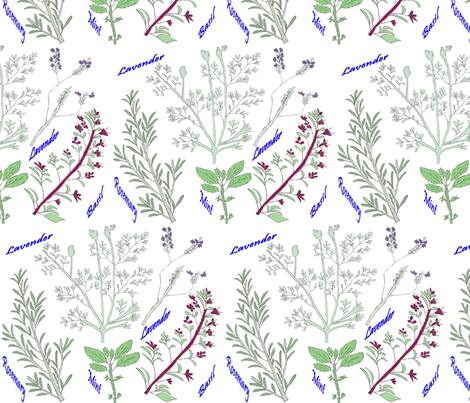 Herb garden fabric by zuzana_kokkinou on Spoonflower - custom fabric