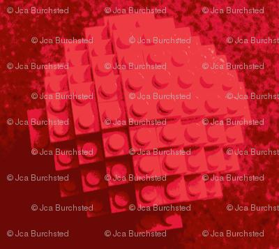 building brick polka dot red