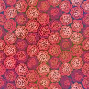 Hexie Roses Deep Hues Small