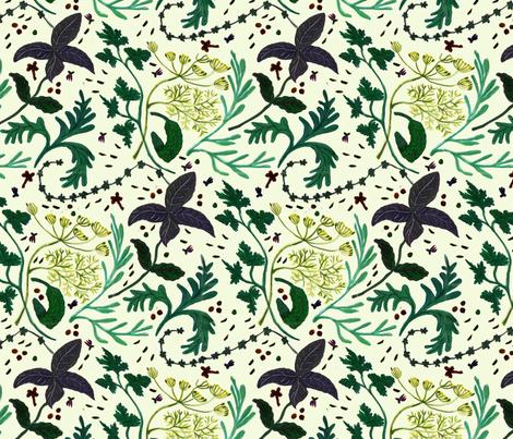 Herbs_8 fabric by belana on Spoonflower - custom fabric