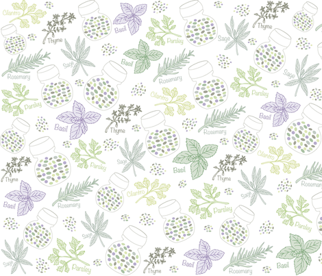 Herbs_and_Seeds fabric by gritgirl on Spoonflower - custom fabric