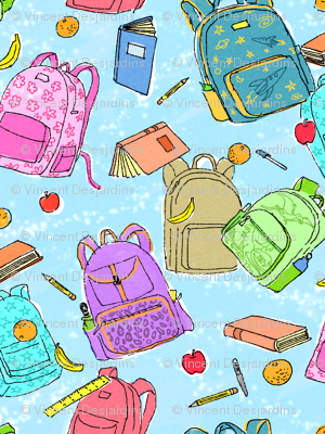 Watercolor Backpacks