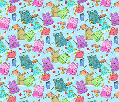 Watercolor Backpacks fabric by vinpauld on Spoonflower - custom fabric