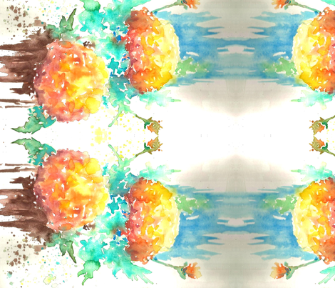 marigold_Scan_edit_-ed fabric by hannah_tiffin on Spoonflower - custom fabric