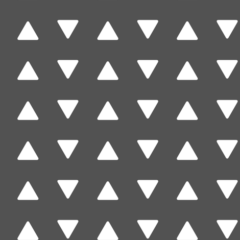 triangles // charcoal - Woodland Collection fabric by littlearrowdesign on Spoonflower - custom fabric