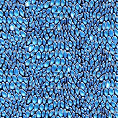 sparkle blue ice metal dragon scales