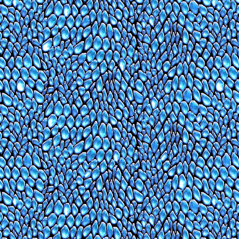 sparkle blue ice metal dragon scales fabric by glimmericks on Spoonflower - custom fabric