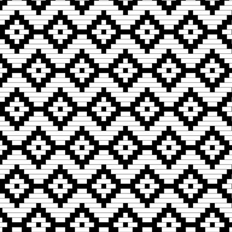 Moroccan Diamonds SMALL SCALE fabric by mrshervi on Spoonflower - custom fabric
