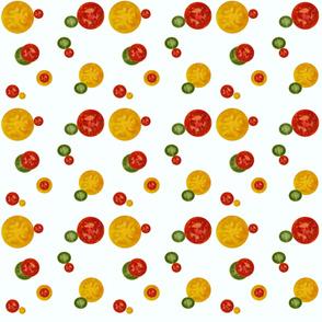 tomatos on white