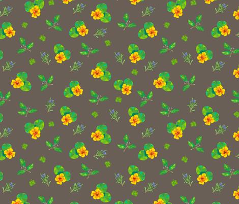 Herbal Kaleidoscope fabric by thepaperdrawer on Spoonflower - custom fabric