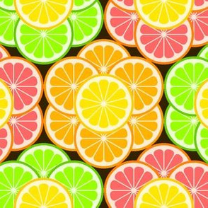 03350410 : citrus slice flowers 3+1