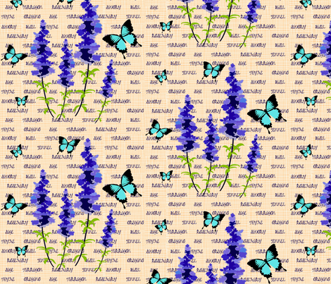 Sage Flowers fabric by vanillabeandesigns on Spoonflower - custom fabric
