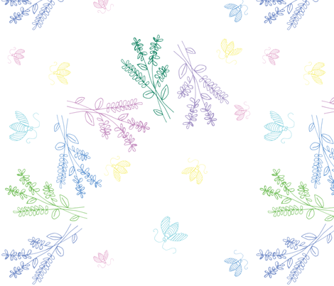 Summer Breeze-White fabric by pamela_hamilton on Spoonflower - custom fabric