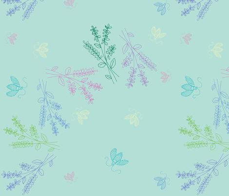 Summer Breeze-Sage fabric by pamela_hamilton on Spoonflower - custom fabric