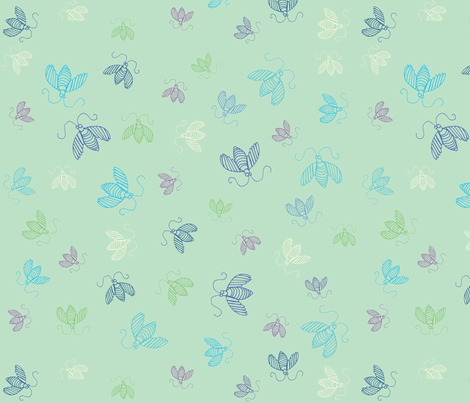 Humming Along-Green fabric by pamela_hamilton on Spoonflower - custom fabric