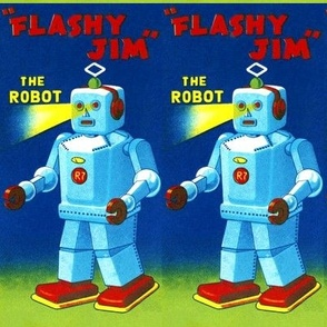 vintage retro kitsch flashy jim robots pop art science fiction sci fi toys futuristic advertisements advert ads commercials banners posters comics