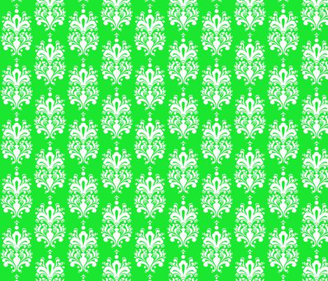 DamaskLtGreenWhite1 fabric by moharris on Spoonflower - custom fabric