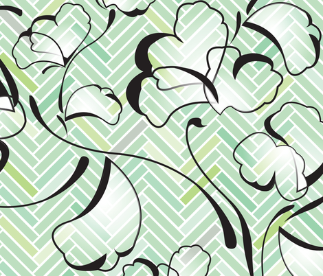 fresh leafage fabric by mariuch on Spoonflower - custom fabric