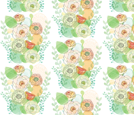 Flower Bouquet fabric by anne_lehman on Spoonflower - custom fabric