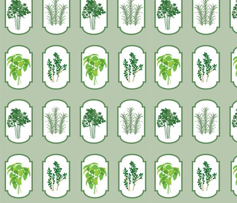 Herbal Cameo fabric by aawalkie on Spoonflower - custom fabric