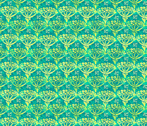 Dill batik (peacock) fabric by helenpdesigns on Spoonflower - custom fabric