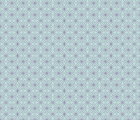 Bohemian Knotwork Blue fabric by leahvanlutz on Spoonflower - custom fabric