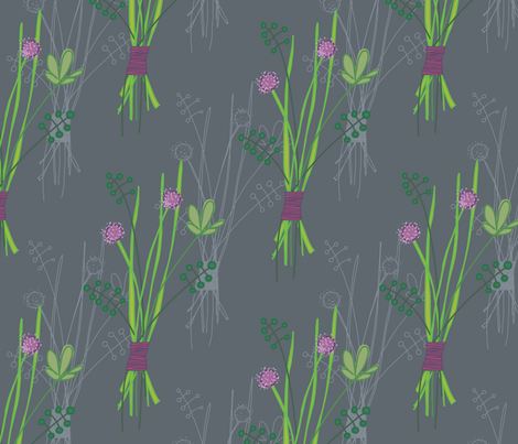 Herb Bundle fabric by aplcreations on Spoonflower - custom fabric